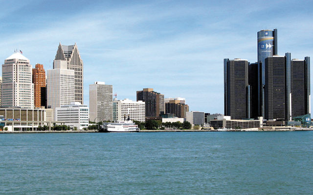 The Detroit skyline (Wikimedia Commons)