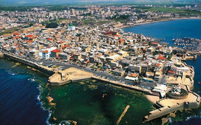 An aerial view of Akko, Israel. (Israel Tourism via Wikimedia Commons)
