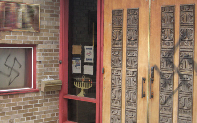 One of the synagogues desecrated by Anthony Graziano
