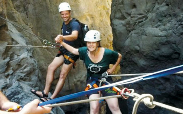 Nature therapy, including rock climbing will be offered to at-risk teens in Israel.