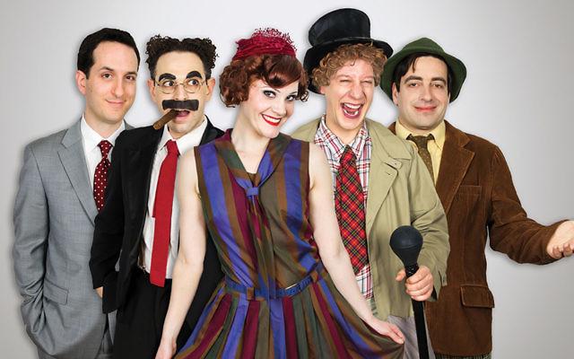 Matt Waters, Noah Diamond, Melody Jane, Seth Shelden, and Matt Roper star as the Marx Brothers — and friend. (Mark X. Hopkins)