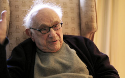 """Fritz Stern, as seen in """"Germans & Jews,"""" a film by Janina Quint and Tal Recant."""