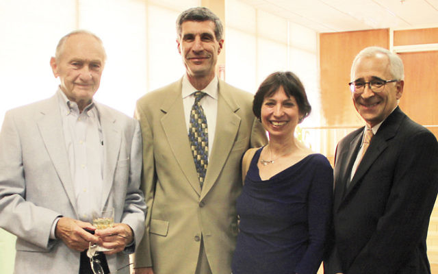 DMC board member Dr. H. Louis Chodosh, left, Dr. Steven and Anne Weisholtz, and DMC board president Jeffrey Silvershein. (Courtesy DOMC)