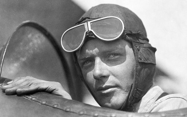 The aviator Charles Lindbergh sits in the cockpit of an airplane at Lambert Field in St Louis, Mo., in 1923. (Underwood Archives/Getty Images)