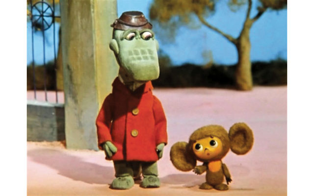 Crocodile Gena and Cheburashka the bear were popular characters in Soviet children's films.