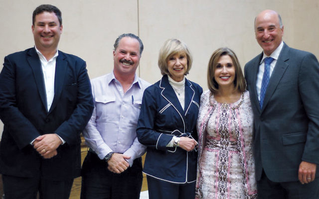 Jewish Home Family Board Chairman Eli Ungar, Jewish Home Foundation's President Jon Furer, Jewish Home at Rockleigh's President Gayle Gerstein; Jewish Home Family's President/CEO Carol Silver Elliott, and Jewish Home Assisted Living's President Peter Martin.