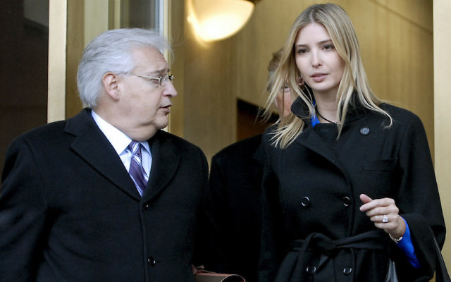Donald Trump, center, along with his daughter Ivanka Trump, right, and attorney David Friedman, left, exit the Federal Building following their appearance in U.S. Bankruptcy Court Thursday, Feb 25, 2010 in Camden, New Jersey. (Bradley C Bower/Bloomberg News)