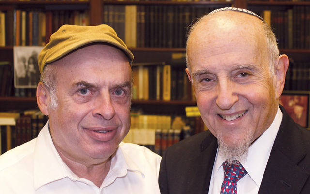 After Israel's chief rabbinate rejected a conversion performed by prominent modern Orthodox Rabbi Haskel Lookstein, right, the Jewish Agency for Israel's chairman, Natan Sharansky, protested on his behalf. (Ben Sales)