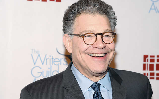 Senator Al Franken is at the 68th Annual Writers Guild Awards in Manhattan in February.  (Theo Wargo/Getty Images For The Writers Guild Of America)