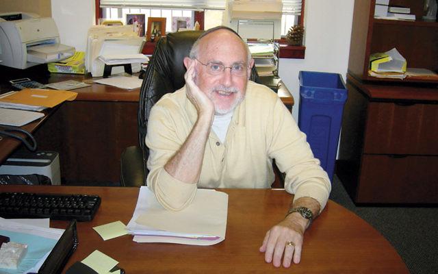 Rabbi Richard Hammerman at the Montebello Jewish Center.