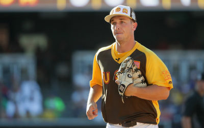 SAN DIEGO, CA - JULY 10:  Alex Bregman #2 of the Houston Astros and the U.S. Team runs off the field during the SiriusXM All-Star Futures Game at PETCO Park on July 10, 2016 in San Diego, California.  (Photo by Sean M. Haffey/Getty Images)