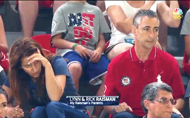 Lynn and Rick Raisman watch their daughter Aly perform.