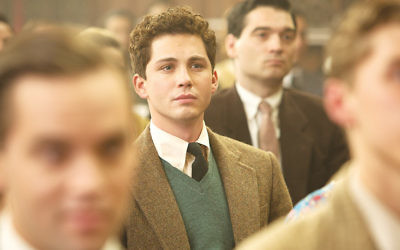 "Logan Lerman in a scene from ""Indignation,"" a film adaptation of the Philip Roth novel. (Alison Cohen Rosa)"