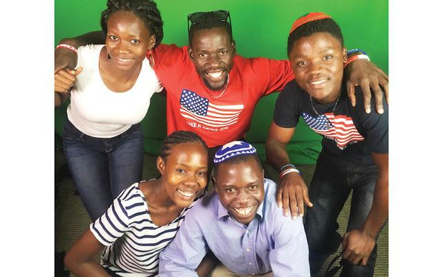 Clockwise from top left, Sarah Nabaggala, Yonatan Loukato, Samuel Matiya Kigondere, Yoash Mayende, and Shoshana Nambi were among 13 Ugandan Jews who worked as staff members at Reform Jewish summer camps in the United States. (Jill Peltzman for the URJ)