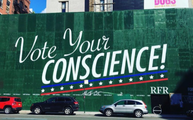 Developer Aby Rosen's Instagram features a photo of a billboard at one of his Lower Manhattan building sites. (Screenshot from Instagram)