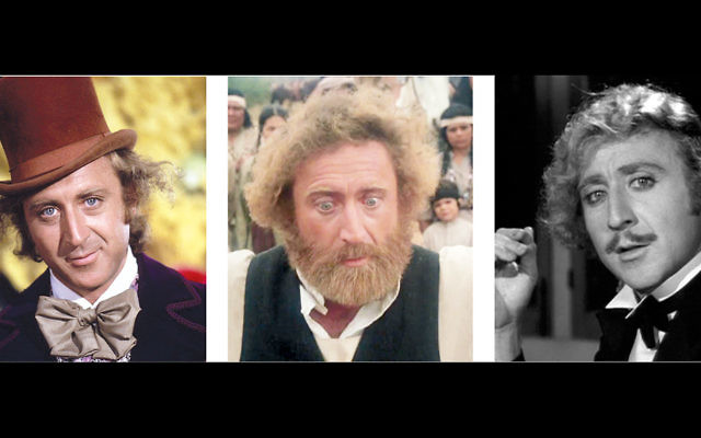 """From left, Gene Wilder as Willie Wonka in """"Willy Wonka and the Chocolate Factory,"""" Rabbi Avram Belinsky in """"The Frisco Kid,"""" and Dr. Frederick Frankenstein in """"Young Frankenstein."""" Wilder is the subject of Selichot services at Temple Emanuel of North Jersey."""