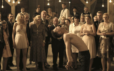 """The dybbuk makes its presence felt during the wedding reception in """"Demon."""""""