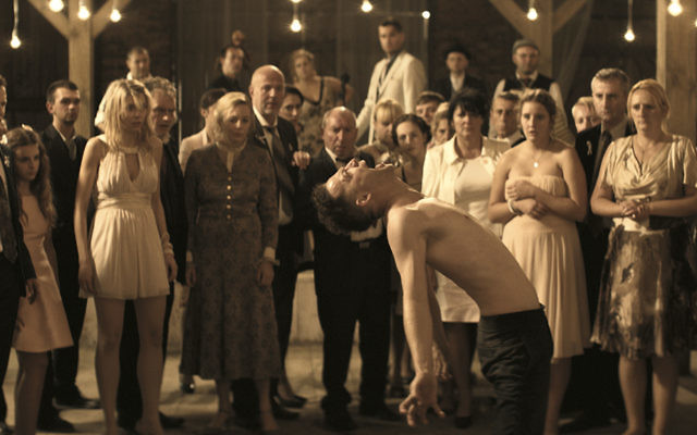 "The dybbuk makes its presence felt during the wedding reception in ""Demon."""