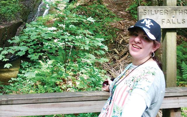 An Ohel participant on a hike at the Bushkill Inn. (Courtesy Ohel)