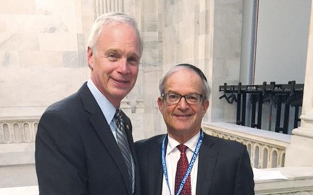 Senator Ron Johnson, left, with Dr. Arthur Kook. (Courtesy Norpac)
