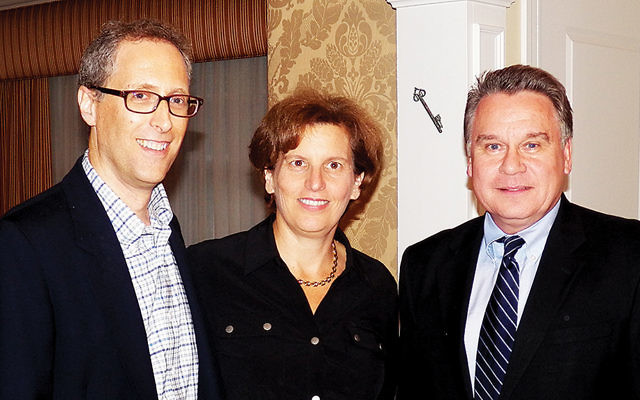 David and Rena Schlussel, left, with Congressman Chris Smith. (Courtesy Norpac)