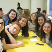 The new school year began at the Bergen County High School of Jewish Studies. Returning students joined new students, who had an orientation at Bowler City in Hackensack. More information is at www.bchsjs.org. (Courtesy BCHSJS)