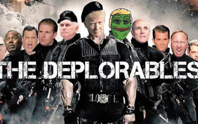 Donald Trump Jr. posted this photo of a basket of deplorables on his Instagram feed. It shows, among other alt-right memes and friends of his father, the popular white nationalist symbol Pepe the Frog (don't ask), Rudy Giuliani, Chris Christie, and of course Donald Trump in the center.