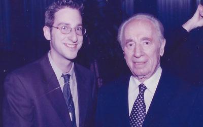 Ben Harris with former Israeli President Shimon Peres in 2001 (Courtesy of Harris)