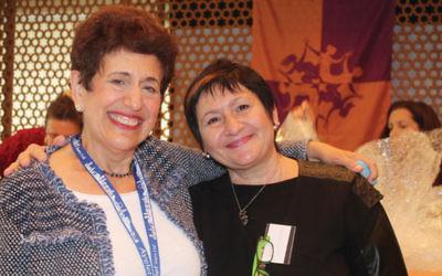 Elaine Cohen, left, and Inna Motornaya in Volgograd.