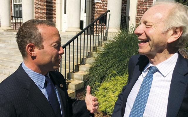 Last month retired Connecticut Senator Joseph Lieberman came to Teaneck to endorse Josh Gottheimer.
