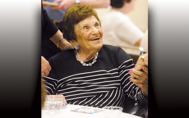 Mildred Nochimson flashes a warm smile for  well-wishers.