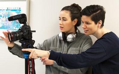 Docyourstory co-founders Keren Greenberg, left, and Daniela Mendelsohn are behind the camera. (Alon Borten/docyourstory)