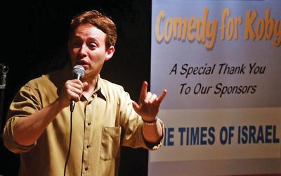 Avi Liberman will headline Comedy for Koby in Teaneck.