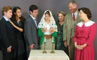 Cast members, from left, Darren Carfano of Suffern; Emily Bosco of Closter; Allen Pines of Fair Lawn; Emma Ruck of Tappan; Janica Carpenter of Old Tappan; Mic McCormack of Tenafly, and Sharon Podsada of Emerson. (Photo provided)