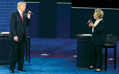 Donald Trump and Hillary Clinton sparred fiercely at the second presidential debate, held at Washington University in St. Louis, on October 9. (Daniel Acker/Bloomberg/Getty Images)