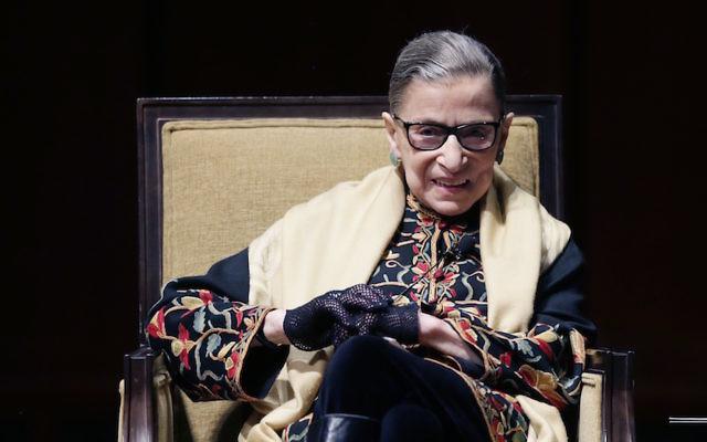 Ruth Bader Ginsburg at the University of Michigan in Ann Arbor, Michigan, Feb. 6, 2015. (Carlos Osorio/AP Images)