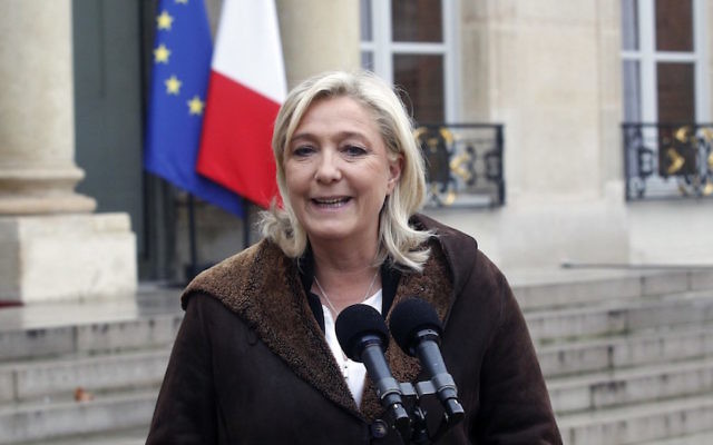 French far-right National Front leader (FN) Marine Le Pen
