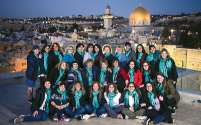 The Bergen County delegation as they explore Israel with the Jewish Women's Renaissance Project. (Aviram Valdman)