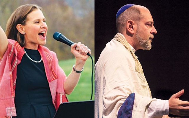 Rabbi Adina Lewittes, left, and Rabbi Amichai Lau-Lavie