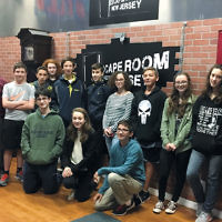 Recently, students at the Bergen County High School of Jewish Studies took a trip to the Escape Room in Hackensack. They worked together to solve puzzles and riddles, figuring out how to escape the room before the one-hour time limit was up. (Courtesy BCHSJS)