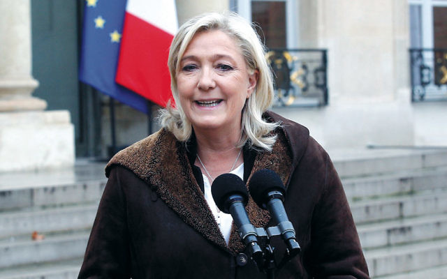 Marine Le Pen hopes to win an upset in France's presidential election. (Thierry Chesnot/Getty Images)