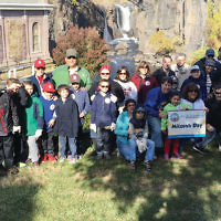 The great outdoors Volunteers prepared flowerbeds for the winter, removed more than 50 bags of trash and brush in parks and historic sites, and planted bulbs that will flower in the spring. Here, Boy Scout Troop 226 and the Pack 613 Webelos Den of Teaneck clean up debris at Paterson Great Falls National Historical Park.