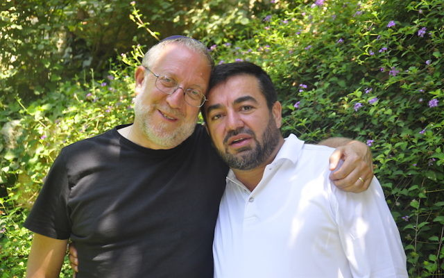 Yossi Klein Halevi, left, and Abdullah Antepli are co-directors of the Muslim Leadership Initiative. (Netanel Tobias/Shalom Hartman Institute)
