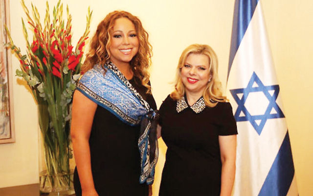 Mariah Carey and Sara Netanyahu