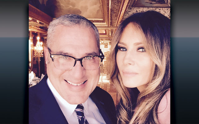 Immigration attorney Michael Wildes, a lifelong Democrat and Hillary Clinton supporter, with his client, Melania Trump.