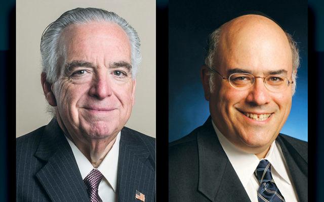 Stephen Flatow, left, and Rabbi Jacob J. Schacter