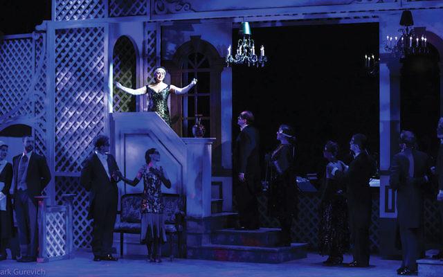 "Rachel Policar in the Folksbiene's ""Golden Bride""; she will sing in ""Light Up the Night."""