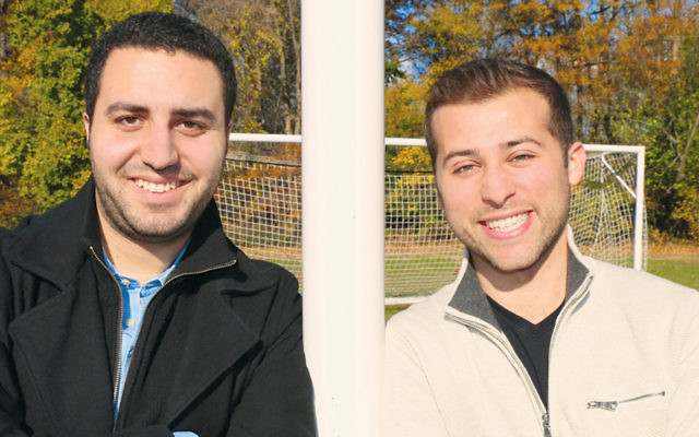 Scott Wisotsky, left, and Shachar Avraham, one-time college roommates, have a start-up that markets to college students.