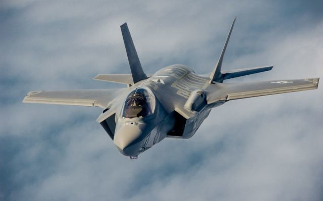 A F-35 fighter jet in the U.S. Airforce