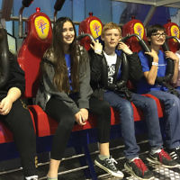 Students at the Bergen County High School of Jewish Studies took a trip to the Funplex in East Hanover for laser tag, arcade games, and go-kart riding. (Courtesy BCHSJS)